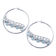 Chandelier earrings including fashion chandelier earrings sterling chandelier feel filigree ball charms silver toned hoop earrings efh004060715 aloadofball Choice Image
